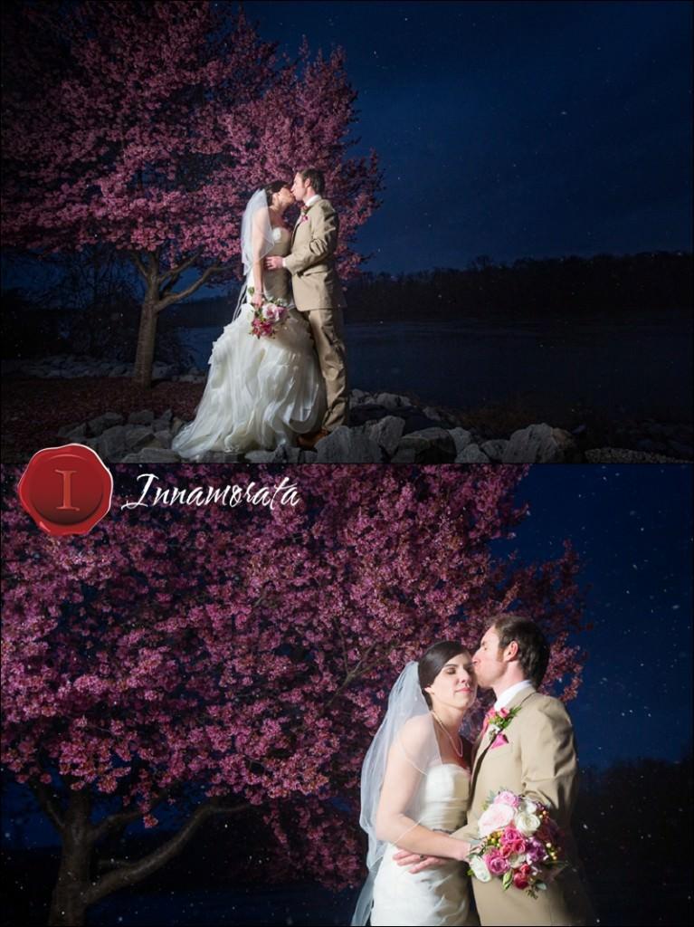 Snow Cherry Blossoms Wedding Photography Manker Patten