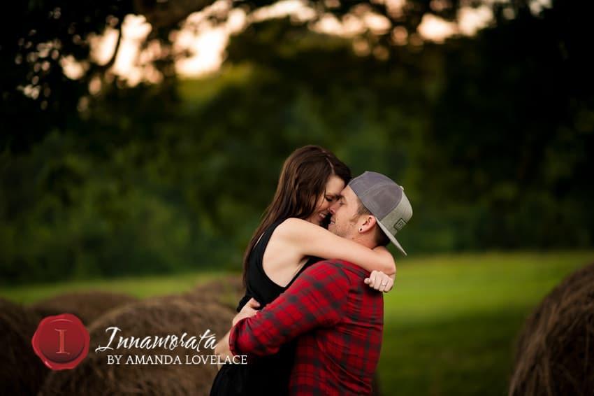 hug kiss engagement photography wedding chattanooga tn dalton ga ringgold ga dallas ga