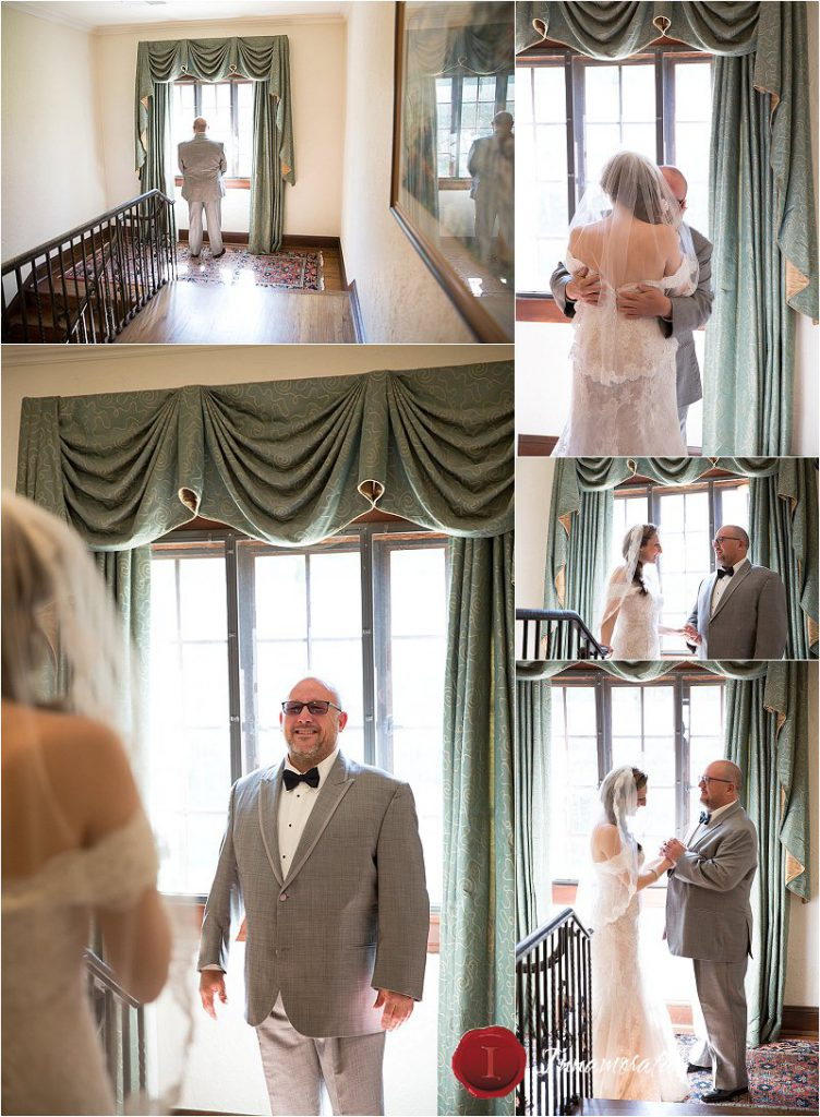 Grandview Wedding Bride's first look with dad.