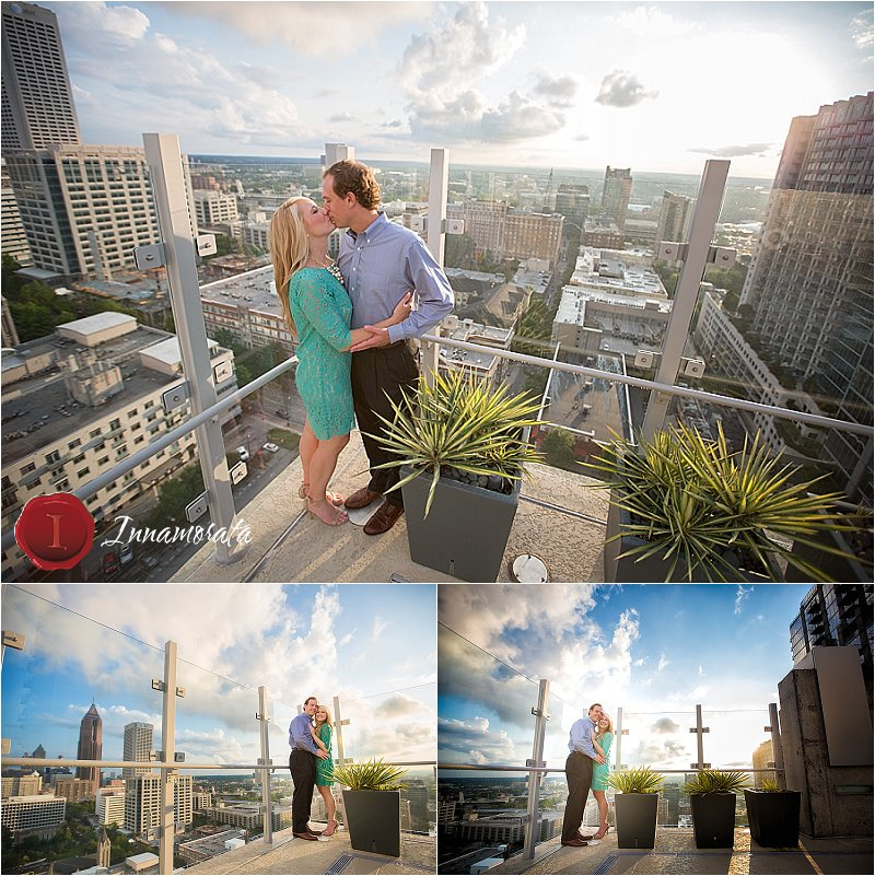 Midtown Atlanta Rooftop Engagement Session