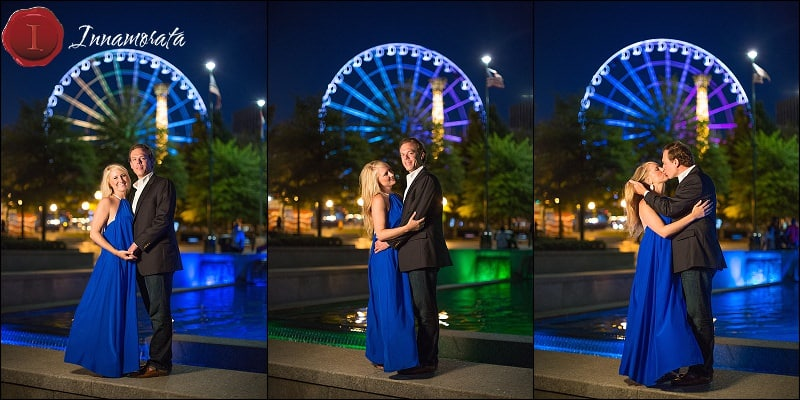 Centennial Olympic Park Engagement Session Atlanta