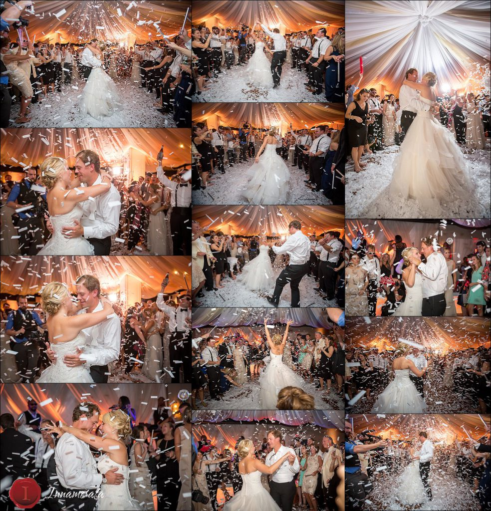 Confetti Stratton Hall Wedding Reception Chattanooga Wedding Photographer