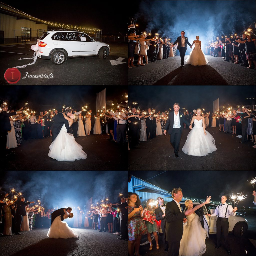 Sparkler Exit Stratton Hall Wedding Reception Chattanooga Wedding Photographer