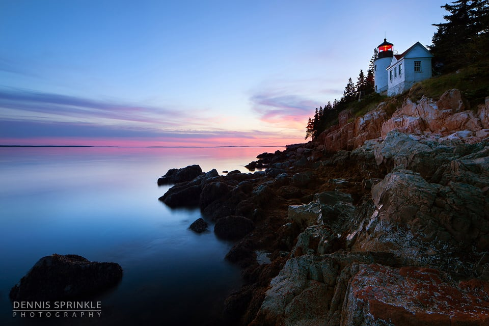 Bar Harbor Lighthouse in Maine