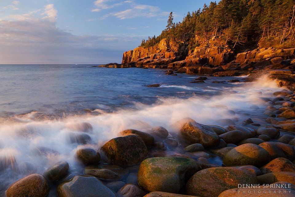 Pebble Beach Sunrise in Maine