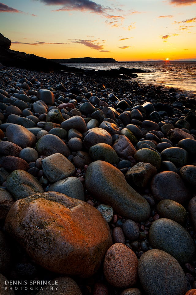 Pebble Beach in Maine
