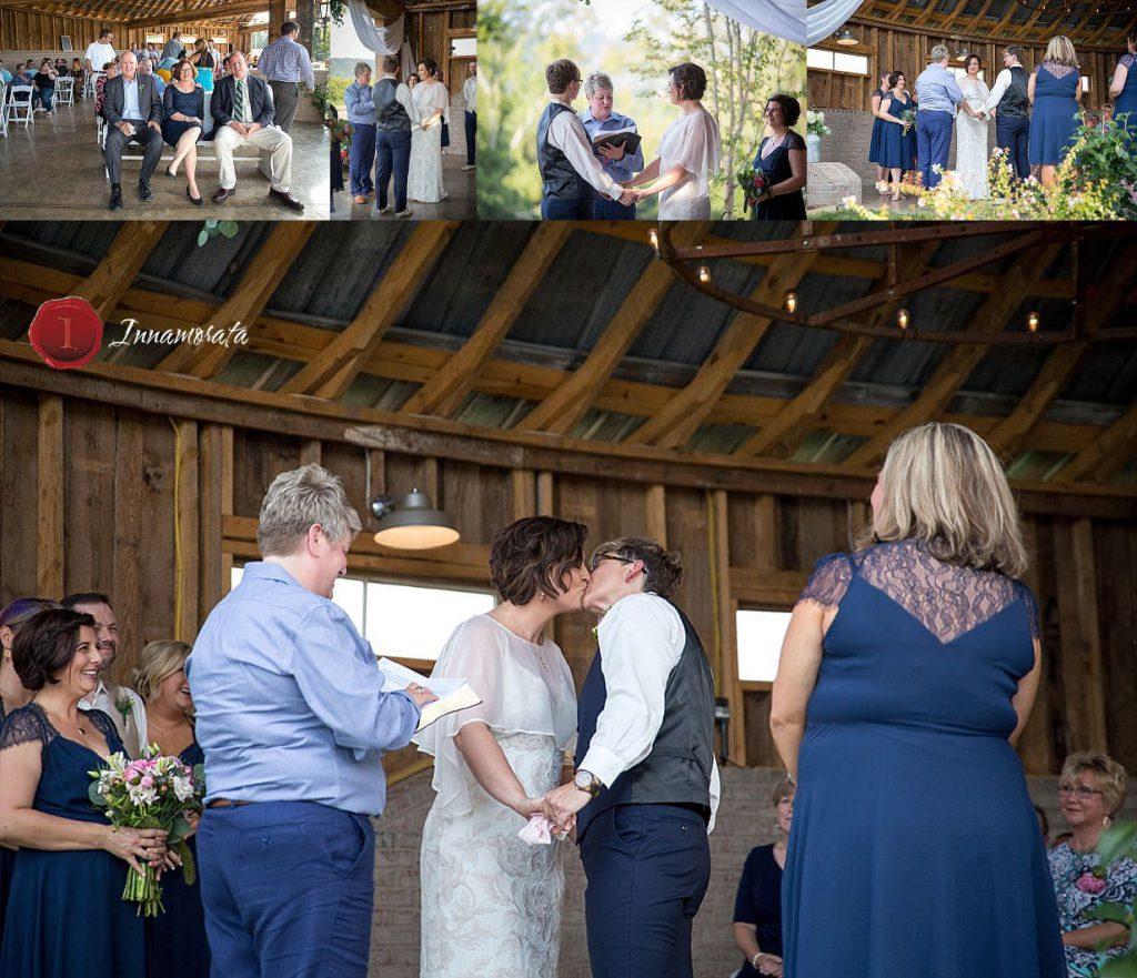 First Kiss Barn Wedding Chattanooga