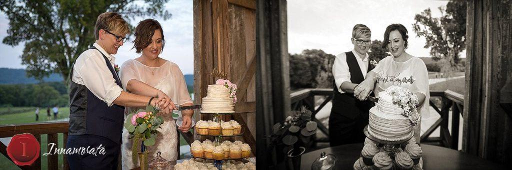 Cake Cutting Chattanooga Wedding