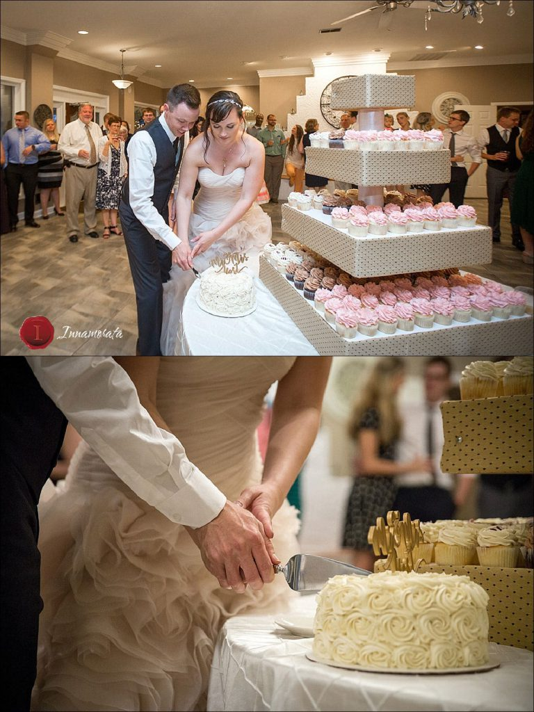 Cake Cutting at Tennessee Riverplace Wedding