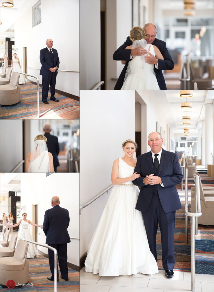 First look with Dad Chattanooga Wedding Photographer