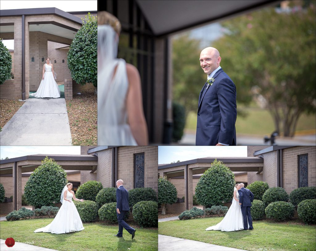 First Look St. Jude Chattanooga Wedding Photographer