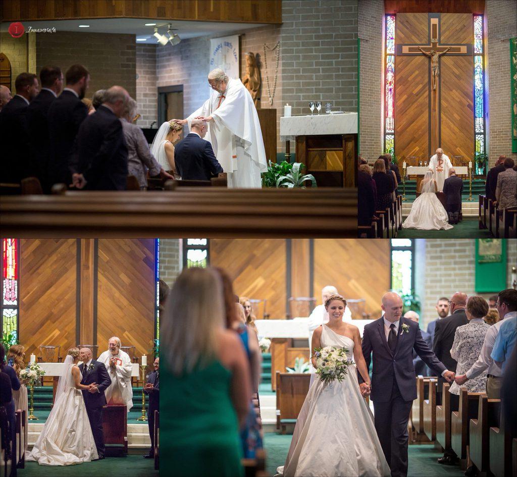Wedding Ceremony photos St. Jude Catholic Church Chattanooga Tennessee