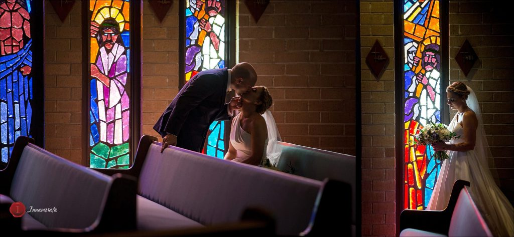 Bride and Groom Chattanooga Wedding Photography St. Just Catholic Church