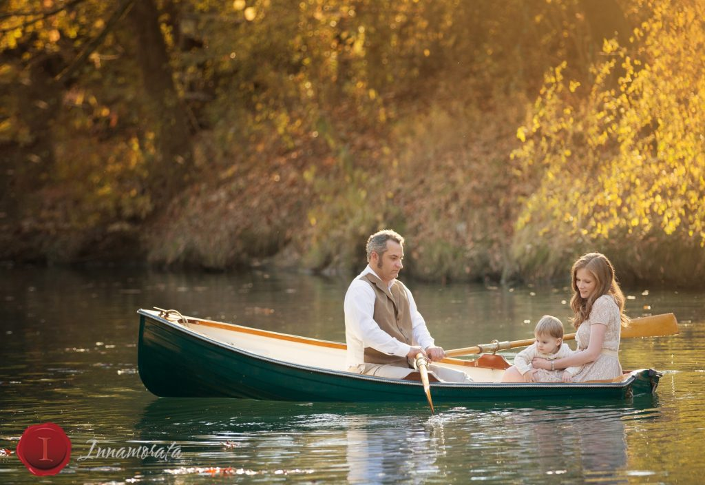 Chattanooga Photographer Boat Family Photos Creek Row Boat rowboat water family river portraits photos photography